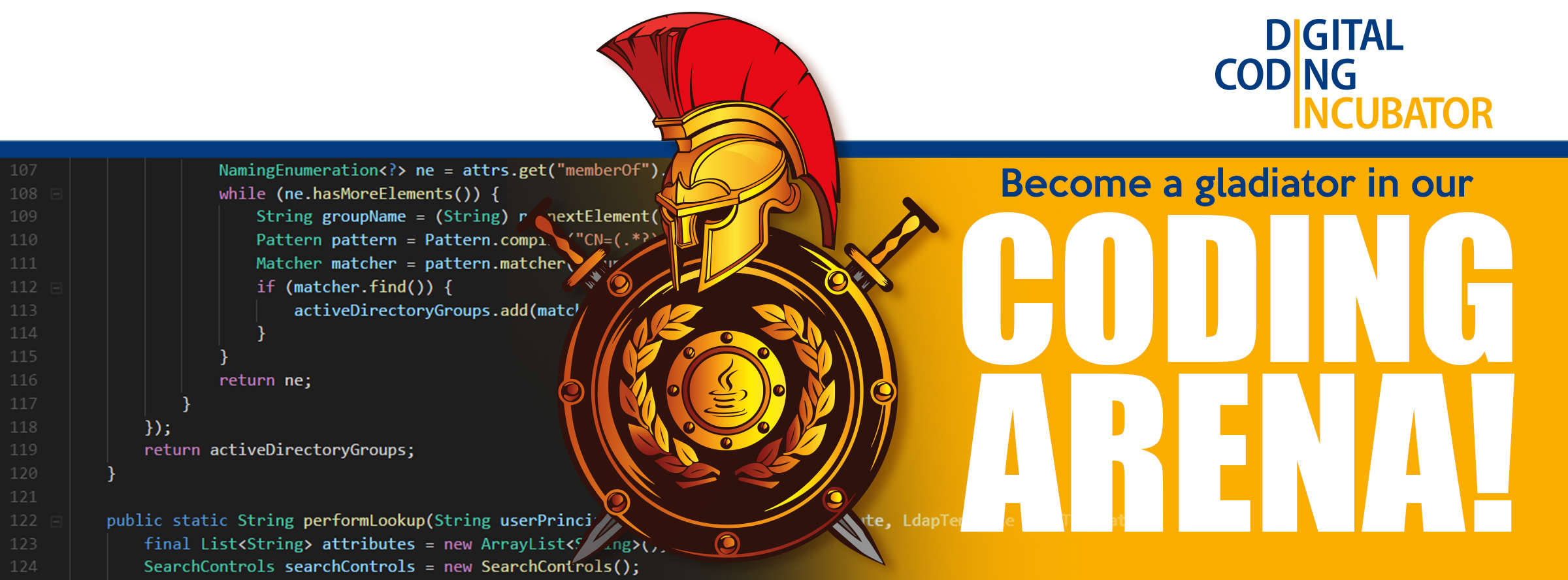 Become a Gladiator in our Coding Arena - Digital Coding Incubator